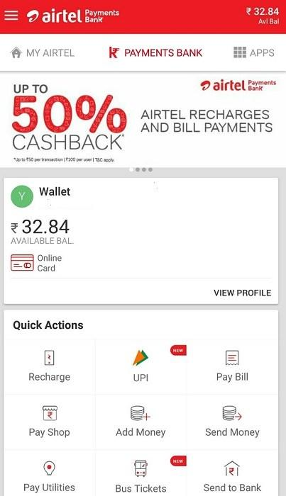 Airtel Payments Bank Integrated with the UPI Now, Check your Airtel App