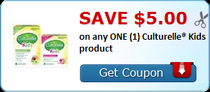 Save $5.00 on any ONE (1) Culturelle® Kids product