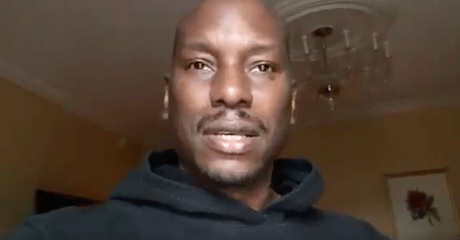 Tyrese Suffers  Emotional Meltdown In Facebook Video