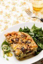 Keto mushroom and cheese frittata