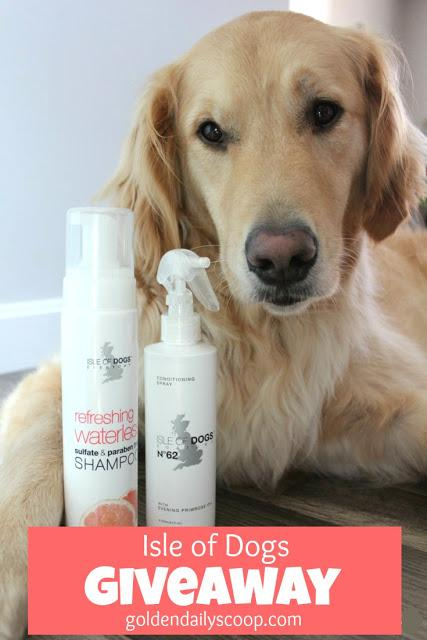 giveaway for isle of dogs waterless shampoo and conditioning spray for dogs