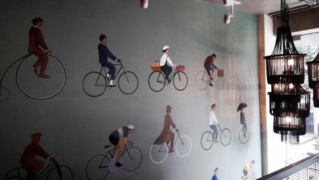 Wall at Ciclo cafe, Bangalore