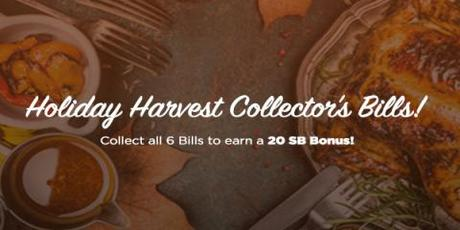 Image: November has arrived, and as we get deeper into the Holiday Season, Swagbucks is marking the occasions with Holiday Harvest Collector's Bills!
