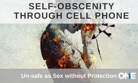 Self-Obscenity through cell phone