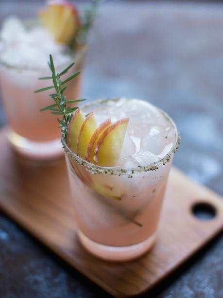 Autumn Glory apple margaritas with rosemary and black pepper