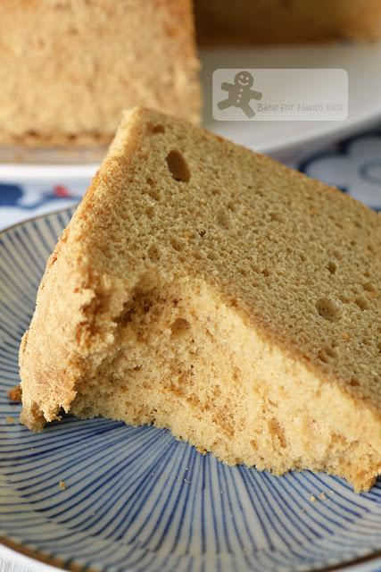 Ultra Spongy Soft Kinako (Roasted Soy Bean Flour) Chiffon Cake - Dairy free