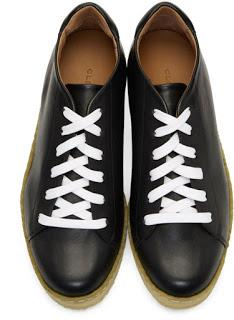 Creeping Around In Your Crepe Soles:  Robert Clergerie Leather Crepe Sole Sneakers