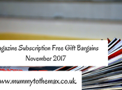 Magazine Subscription Free Gift Bargains November 2017