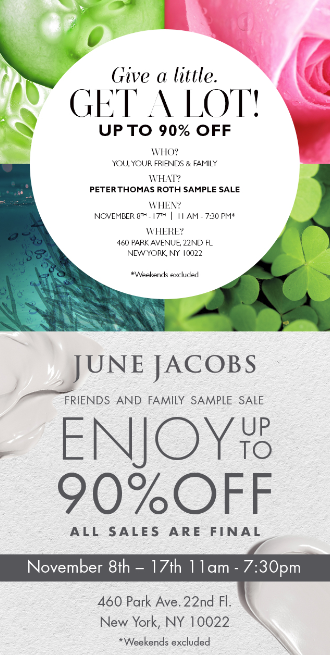 SHOPPING NYC: June Jacobs and Peter Thomas Roth Sample Sale