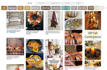 Pinterest Thanksgiving and Fall Decorations