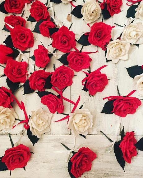 veterans day paper flowers!