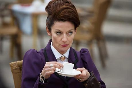 Missy (Michelle Gomez) drinking tea