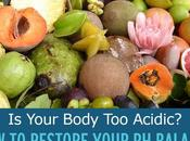 Your Body Acidic? Restore Balance