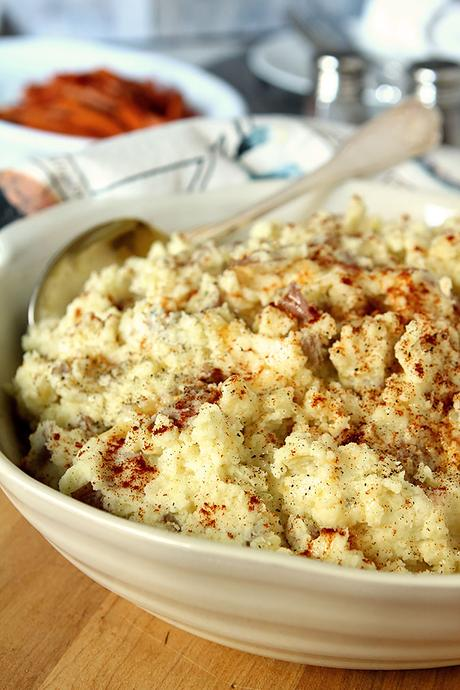 Smashed Potatoes with Boursin Garlic and Fine Herbs Cheese