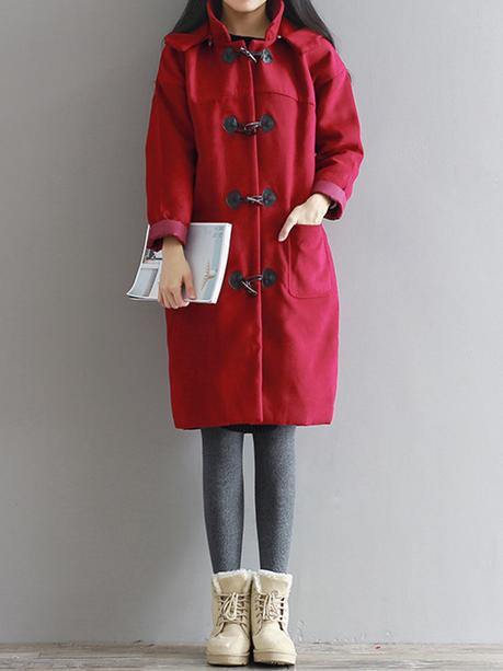 Women red coat