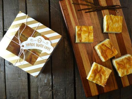 Passionfruit Swirl Cheesecake Bars