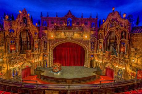 Tampa theater stage view from balcony  Courtesy of Tampa Theatre
