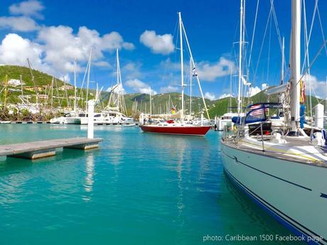 Caribbean 1500 boats arriving into Nanny Cay, Tortola