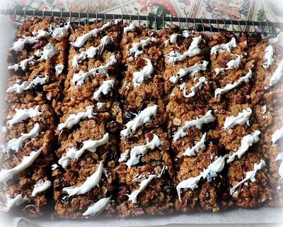 Cranberry, Pecan & White Chocolate Flapjacks