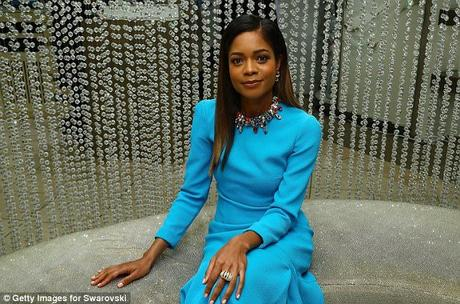 Naomie Harris Gorgeous In Blue At Swavorski Star Event In NYC