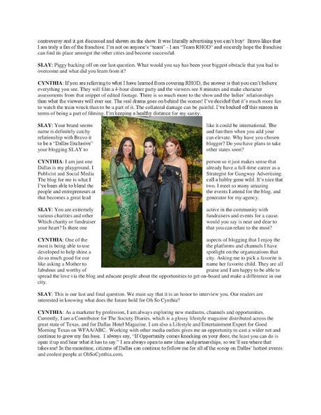 Slay Magazine features Cynthia Smoot