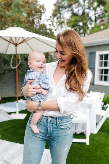 Amy Havins poses with baby Ralph.