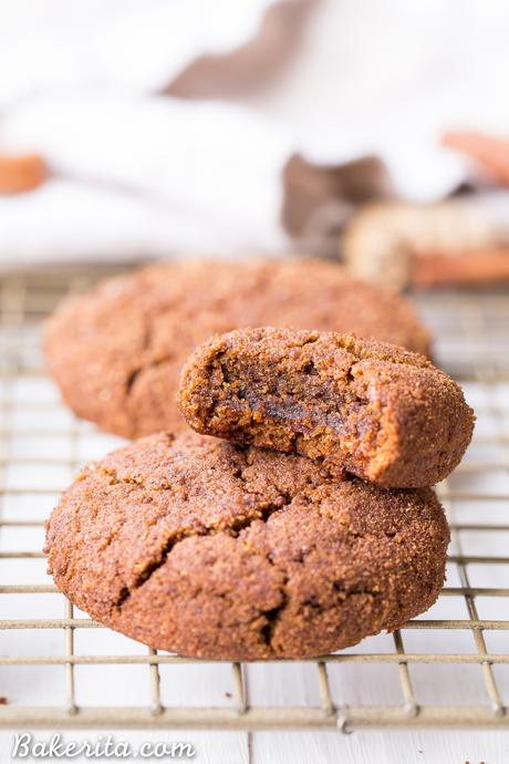 These Soft Gingerbread Cookies will be a holiday staple! They're incredibly chewy with tons of flavor from the molasses and warm spices. These gluten-free, paleo, and vegan cookies are sure to be a hit.
