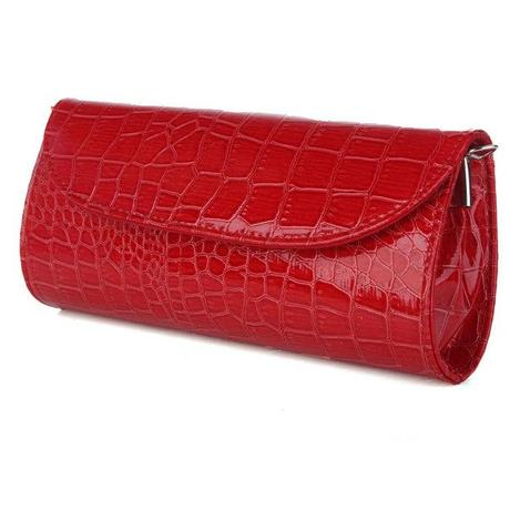 red clutch purse