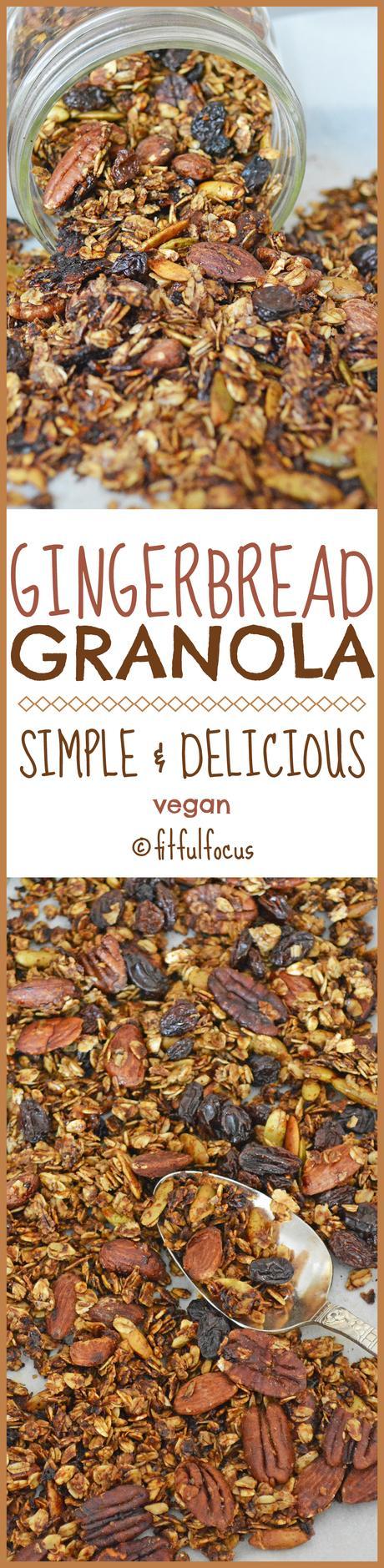 Gingerbread Granola (vegan)