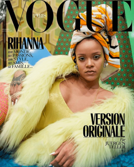 Rihanna Covers 'Vogue' Paris December 2017 Issue Three Times