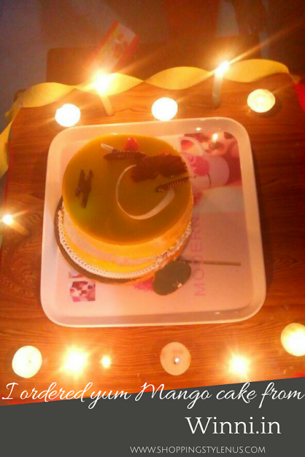 What I did this weekend? Ordered Mango cake from Winni.in and left behind Ferns n Petals.