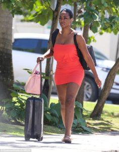 Kenya Moore and Marc Daly Spotted Leaving Barbados