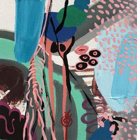 Boston Artist David Tang Olsen Marine Inspired Abstract Painting