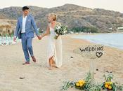 Natural Beach Wedding Greece Whitney Evan