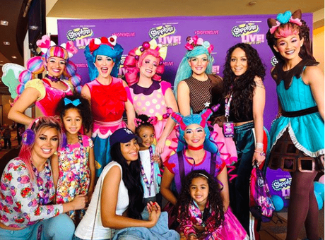 Pics: Vanessa Simmons & Nina Guzman Take Daughters To 'Shopkins Live'
