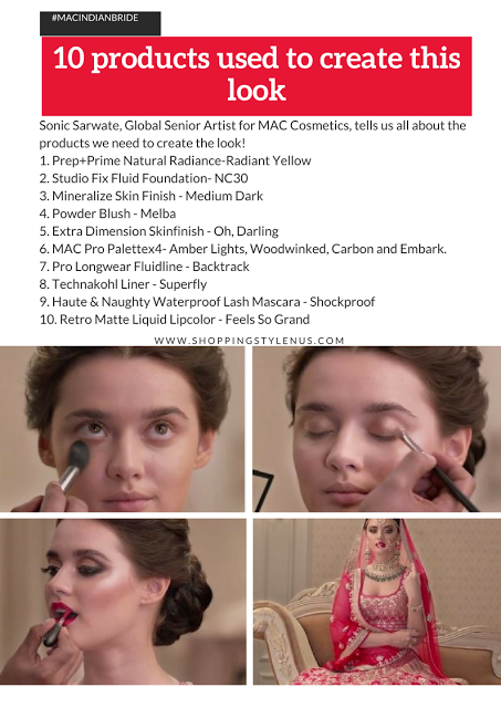 #MACINDIANBRIDE - 10 Products used to create this stunning Indian Bride Look