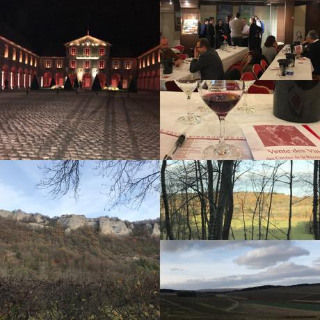 More scenes from Burgundy. Images top left clockwise, Beaune Hôtel de Ville, Hospices de Beaune auction wine tasting, scenes from Hautes-Côtes de Beaune Images: ©L.M. Archer