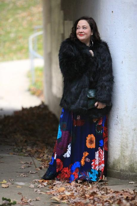 What I Wore: Dark Floral