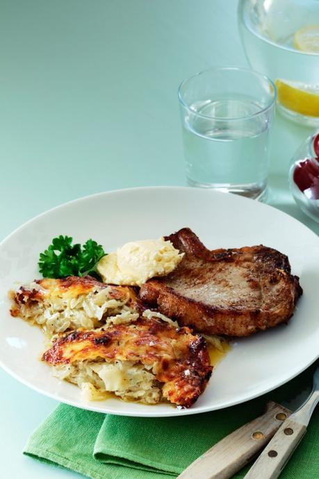 Keto pork chops with cabbage casserole
