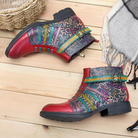 Socofy bohemian boots