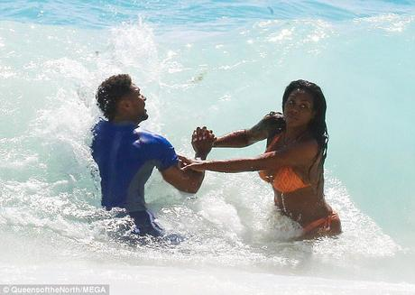 Kenya Moore and Marc Daly Spotted Hitting The Beach In Barbados