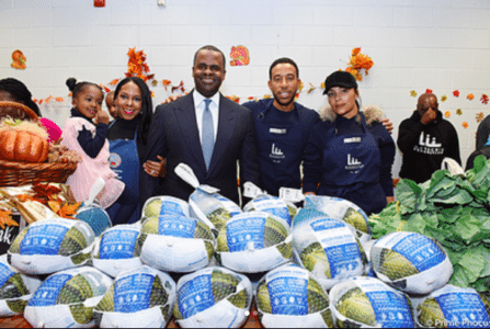 #DoingGood Ludacris and Wife Eudoxie Give Away Coats In Atlanta