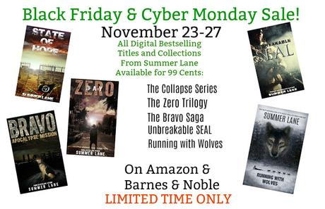 BLACK FRIDAY & CYBER MONDAY BOOK SALE: CHECK IT OUT!