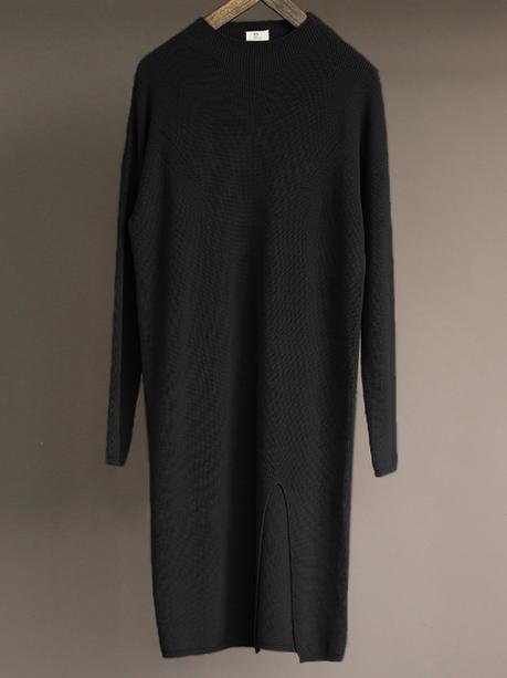 black plus size sweater dress