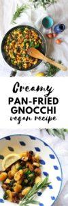 Creamy Pan-Fried Gnocchi | Vegan Recipe | The Tofu Diaries