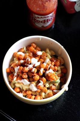Macaroni and Cheeze with Buffalo Chickpeas