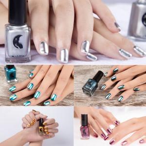 metallic color nail polishes
