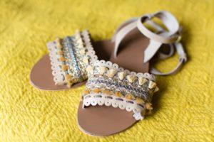 Villa farm wedding photography boho wedding sandals