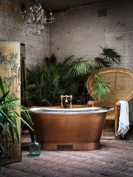 Relax and unwind in this Catchpole & Rye Copper Bateau Bath for a sample of pure luxury