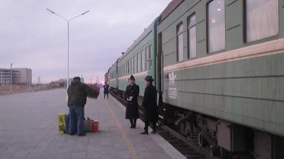 Crossing the Border from China Into Mongolia